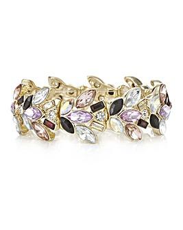 Mood Multi Tone Crystal Cluster Bracelet