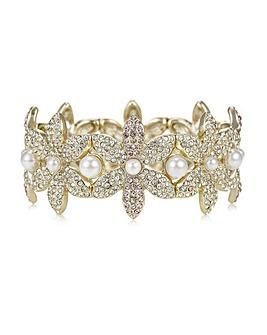 Mood Crystal Pave Floral Bracelet