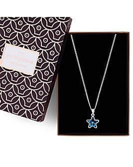 Jon Richard Swarovski star necklace