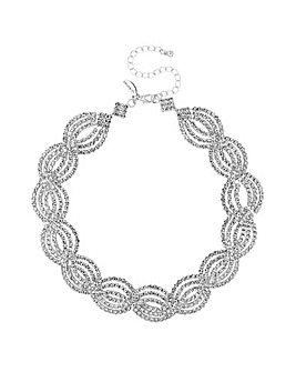 Jon Richard diamante wave necklace