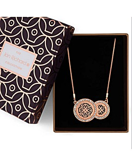 Jon Richard crystal disc jewellery set
