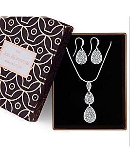Jon Richard crystal pebble jewellery set
