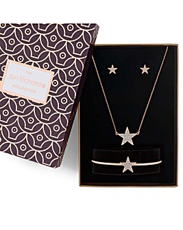 Jon Richard crystal star jewellery set