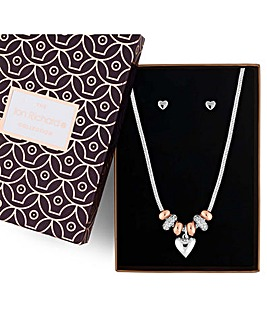 Jon Richard heart charm jewellery set