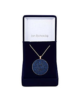 Jon Richard pave disc necklace