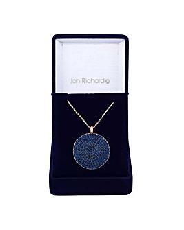Jon Richard pave disc necklace