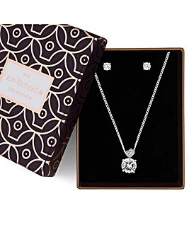 Jon Richard heart jewellery set