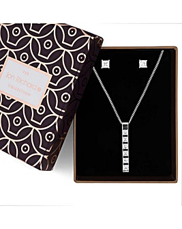 Jon Richard crystal bar jewellery set