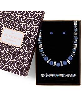 Jon Richard blue pearl jewellery set