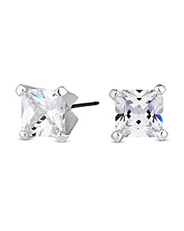 Jon Richard large square stud earring