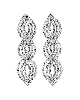 Jon Richard diamante wave drop earring