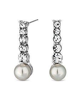 Jon Richard crystal and pearl earring