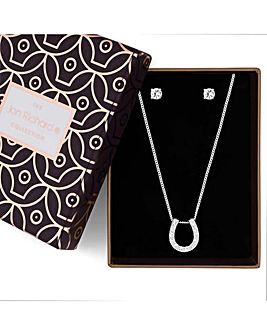 Jon Richard horseshoe jewellery set