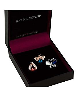 Jon Richard bug brooch set