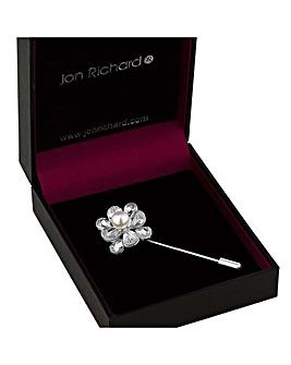 Jon Richard flower pin brooch