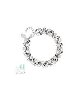 Alan Hannah crystal and pearl bracelet