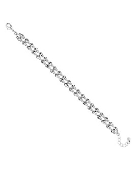 Jon Richard crystal double row bracelet