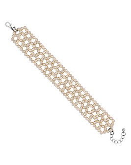 Jon Richard pearl woven bracelet