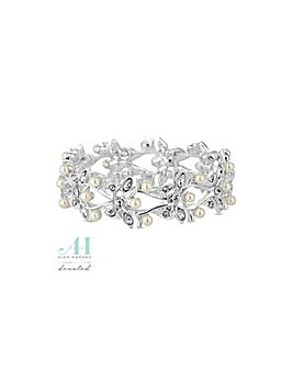Alan Hannah leaf and pearl bracelet