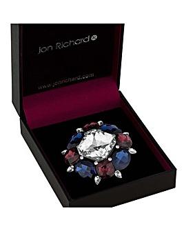 Jon Richard crystal statement brooch