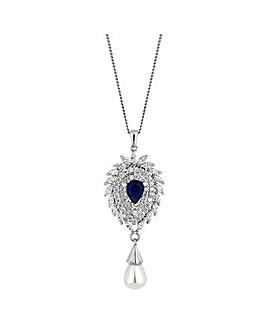 Jon Richard pearl droplet necklace