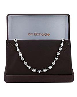 Jon Richard silver tennis link necklace