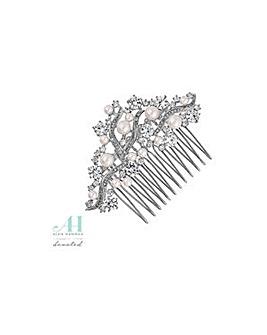Alan Hannah pearl cluster hair comb