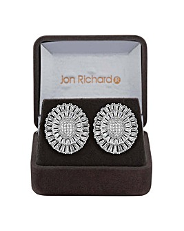 Jon Richard crystal shard stud earring