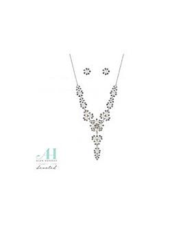 Alan Hannah pearl cluster jewellery set