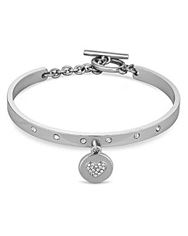 Jon Richard star disc charm bangle
