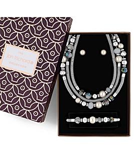 Jon Richard pearl and bead jewellery set