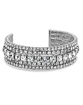 Jon Richard diamante cuff bracelet