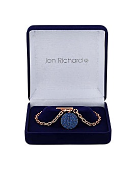 Jon Richard crystal pave disc bracelet