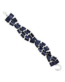 Jon Richard baguette crystal bracelet