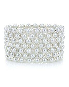 Mood Silver Pearl Cuff Bracelet