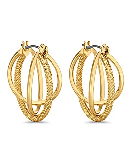 Jon Richard braided hoop earring