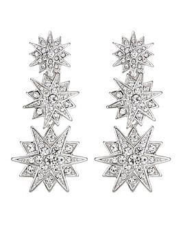 Mood Silver Star Drop Earring