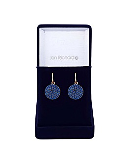 Jon Richard pave disc drop earring