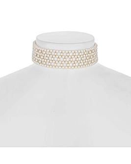 Jon Richard pearl woven choker necklace