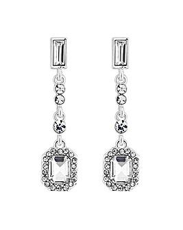 Jon Richard multi crystal drop earring