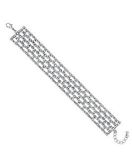 Mood Silver Diamante Bracelet