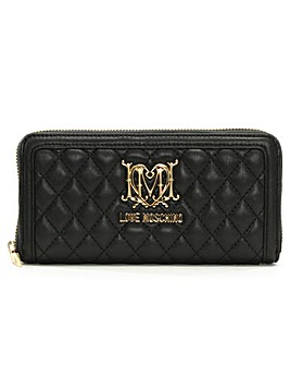 Love Moschino Quilted Zip Around Wallet