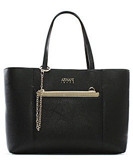 Armani Jeans Chain Eco Leather Shopper