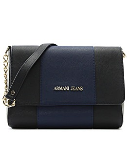 Armani Jeans Chain Flapover Shoulder Bag