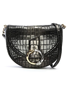 Cavalli Class Reptile Leather Shoulder