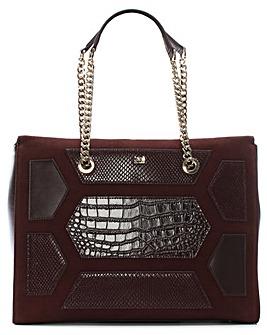 Cavalli Class Suede & Leather Shopper
