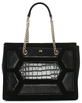 Cavalli Class Suede & Leather Shopper