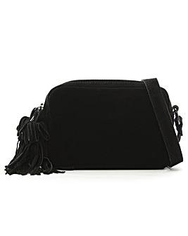 Daniel Small Suede Tassel Cross-Body Bag