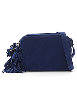 Daniel Small Suede Tassel Cross-Body Bag