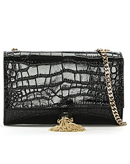 Cavalli Class Leather Moc Croc Shoulder
